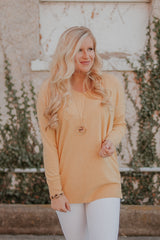*NEW* All Day V Neck Sweater ~ Heather Yellow