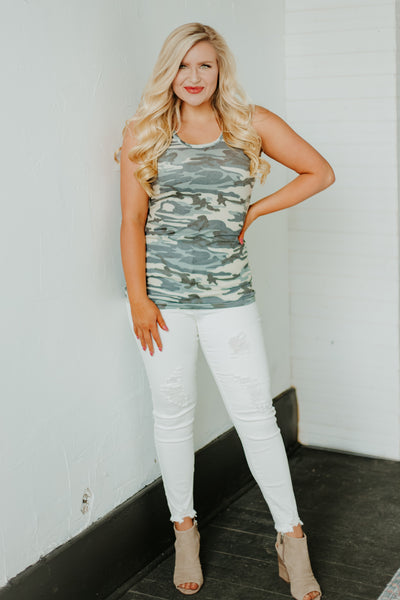 *New* Can You See Me Camo Tank ~ Camo - Be You Boutique