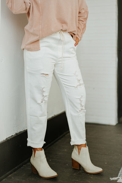 {Last Chance} In Time Denim Pants ~ White Denim *FINAL SALE*