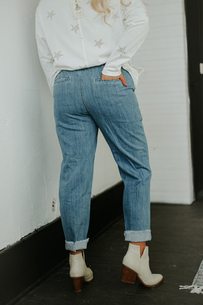 *NEW* In Time Denim Pants ~ Blue Denim - Be You Boutique