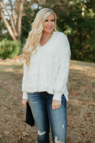 *NEW* POL Laura Desert Sweater ~ Cream