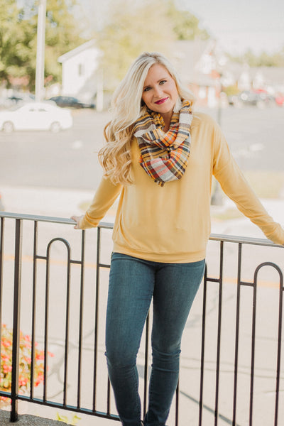 Lonnie Long Sleeve Top ~ Mustard