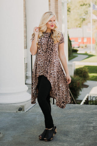 {LAST CHANCE} Crazy Train Wild Willow Hi Lo Tunic ~ Animal Print