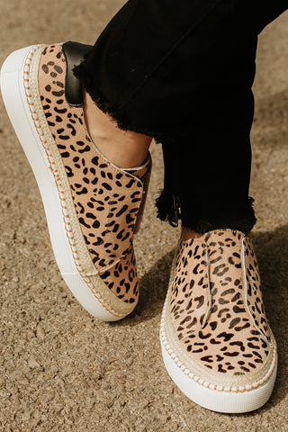 Corkeys Cologne Step In Sneakers ~ Leopard - Be You Boutique