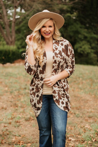 {Last Chance} Be Chill Animal Print 3/4 sleeve Cardigan