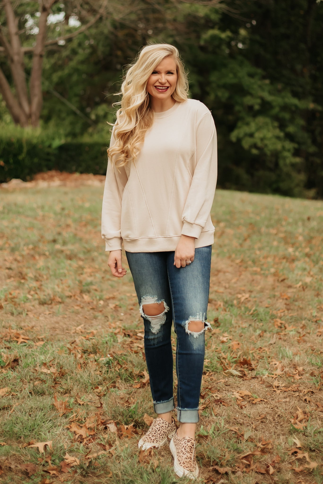 Toasted Almond Delight Knit Top ~ Almond