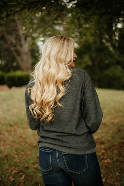 {Last Chance} Jadelynn Brooke Be Brave Corded Fleece ~ Charcoal *FINAL SALE* - Be You Boutique