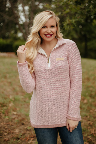 {Last Chance} Jadelynn Brooke Boyfriend Pullover ~ Pink *FINAL SALE* - Be You Boutique