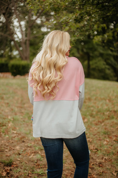 *NEW* Jadelynn Brooke Burn Out Zip Up ~ Grey / Rose