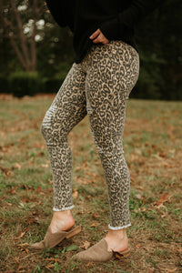 Ariele Animal Print Skinny Bottoms ~ Brown