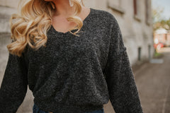 *NEW* Teddy Love Seam Sweater ~ Black