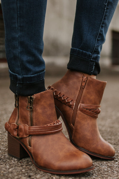 Not Rated Chryse Booties ~ Tan