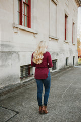 Bali Basic Long Sleeve Top ~ Wine