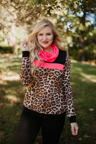 Victory Mix Match Top ~ Animal Print/Solid