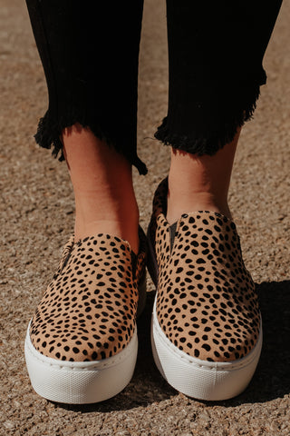 *NEW* Royal Step In Sneakers ~ Tan/Black Cheetah