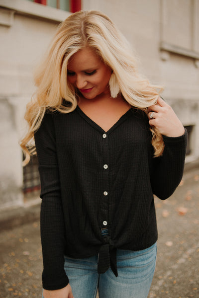 Oh So Soft Knit Raglan Sweater Top ~ Black