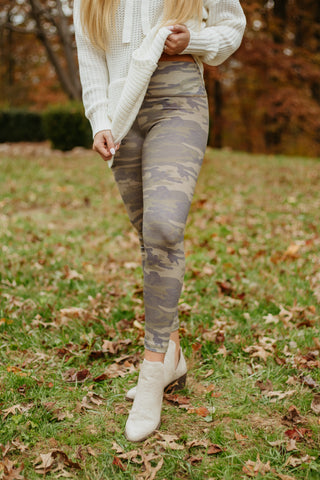 Camo Dream Leggings ~ Olive