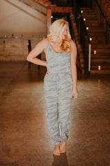 *NEW* Marnie Camo Jumpsuit ~ Grey Blue