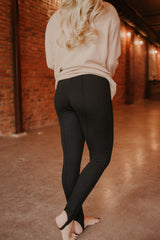 {LAST CHANCE} Sarah Stirrup Pants ~ Black