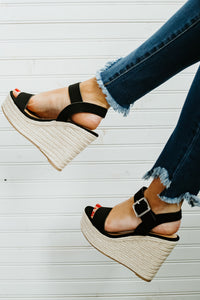 {Last Chance} Ashoka Nub Jute Wedges ~ Black *FINAL SALE*