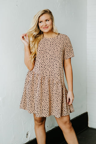 *NEW* Cute 'Lil Cheetah Dress ~ Taupe