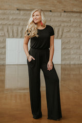 *NEW* In Control Jumpsuit ~ Black
