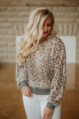 *NEW* Leopard Beauty Open Back Top ~ Grey