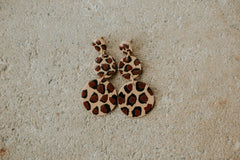 *NEW* Oh My Leopard Clay Earrings ~Taupe & Black