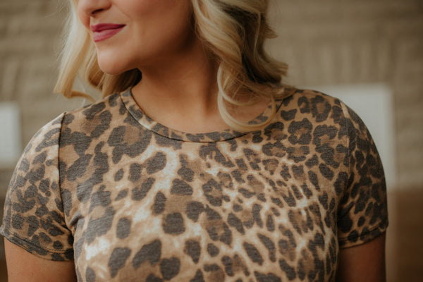 {Last Chance} Have To Have Leopard Top ~ Camel