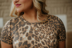 *NEW* Have To Have Leopard Top ~ Camel