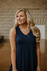 *NEW* Betty Basic V Neck Tunic ~ Navy