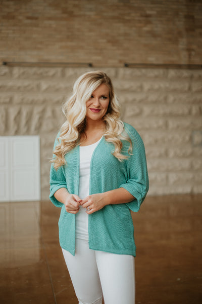 *NEW* Warm Like Summer Cardigan ~ Mint