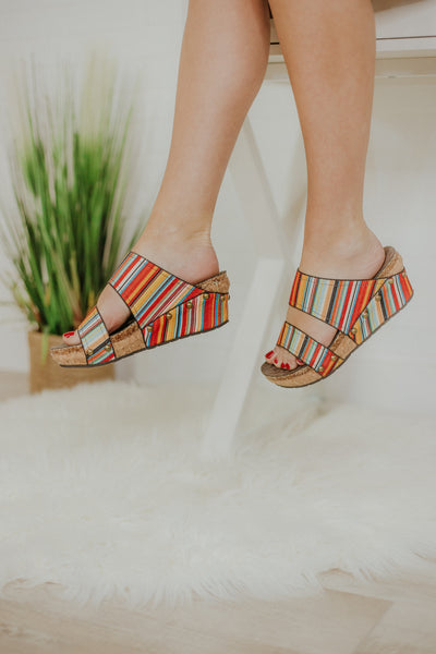 *NEW* Volatile Vittoria Wedge Slide ~ Spring Sarape