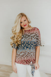 {LAST CHANCE} Debbie Cheetah Colorful Dolman Top ~ Multi