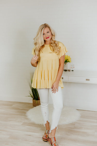 *NEW* Be My Baby Baby Doll Tunic ~ Banana