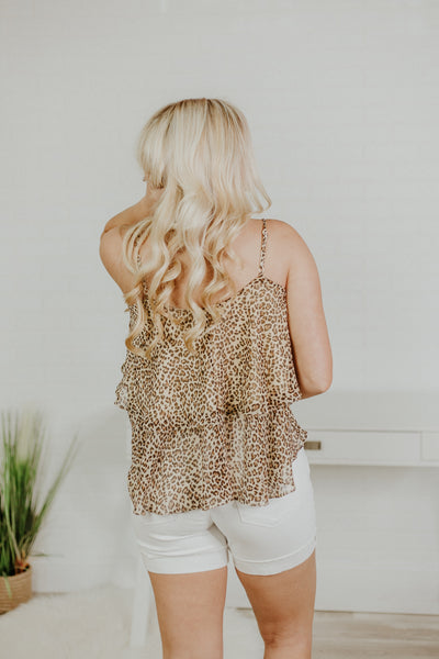Take Me With You Cami Top ~ Leopard