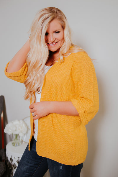 *NEW* Warm Like Summer Cardigan ~ Yellow