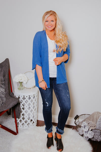 *NEW* Warm Like Summer Cardigan ~ Cobalt