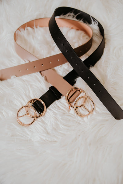 Bianca Leather Belt ~Taupe - Be You Boutique