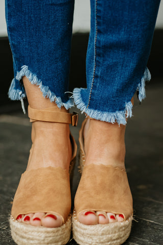 {Last Chance} Jade Espadrille Wedge ~ Tan *FINAL SALE*