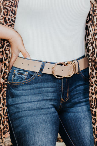 *NEW* Bianca Leather Belt ~Taupe - ShopBeYouBoutique