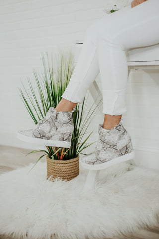 {Last Chance}  Fabulous Wedge Sneakers ~ Snake