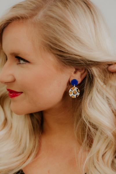Be Leopard Mini Dangles ~ Royal Blue