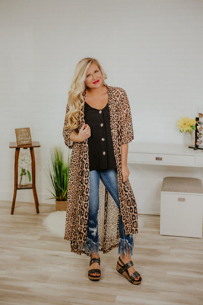 Crazy Train Dixie Duster ~ Leopard - Be You Boutique