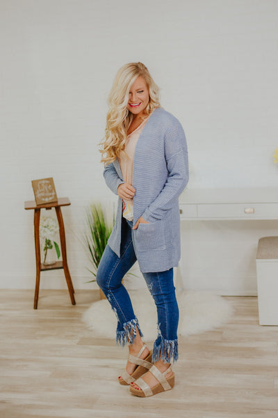 {LAST CHANCE} Oh My Sunshine Cardigan ~ Chambray