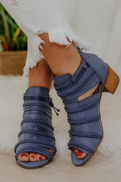 {LAST CHANCE} Not Rated Cullie Ankle Booties ~ Blue