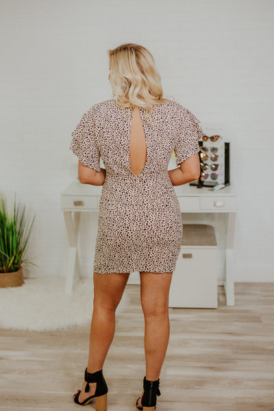 {Last Chance} Take Me Back Double Ruffle Dress ~ Peach Taupe