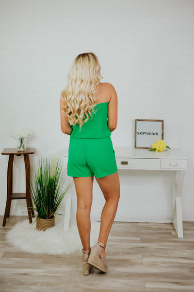 Having Fun Jumpsuit ~ Emerald