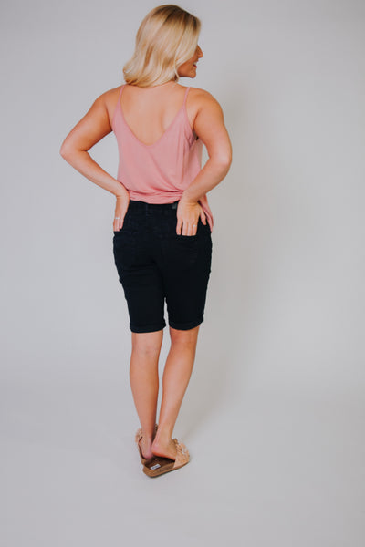*NEW* Let's Go To Bermuda Shorts ~ Black Denim - ShopBeYouBoutique