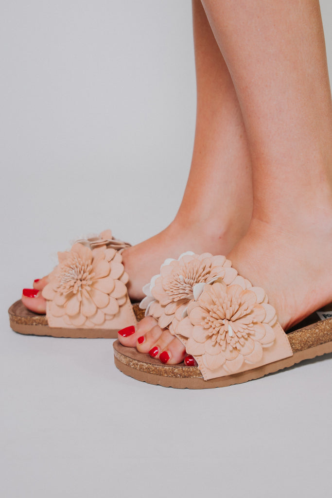 {LAST CHANCE} Not Rated Cinnamon Sandals ~ Nude